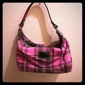 Coach Mini Plaid Pink Bag